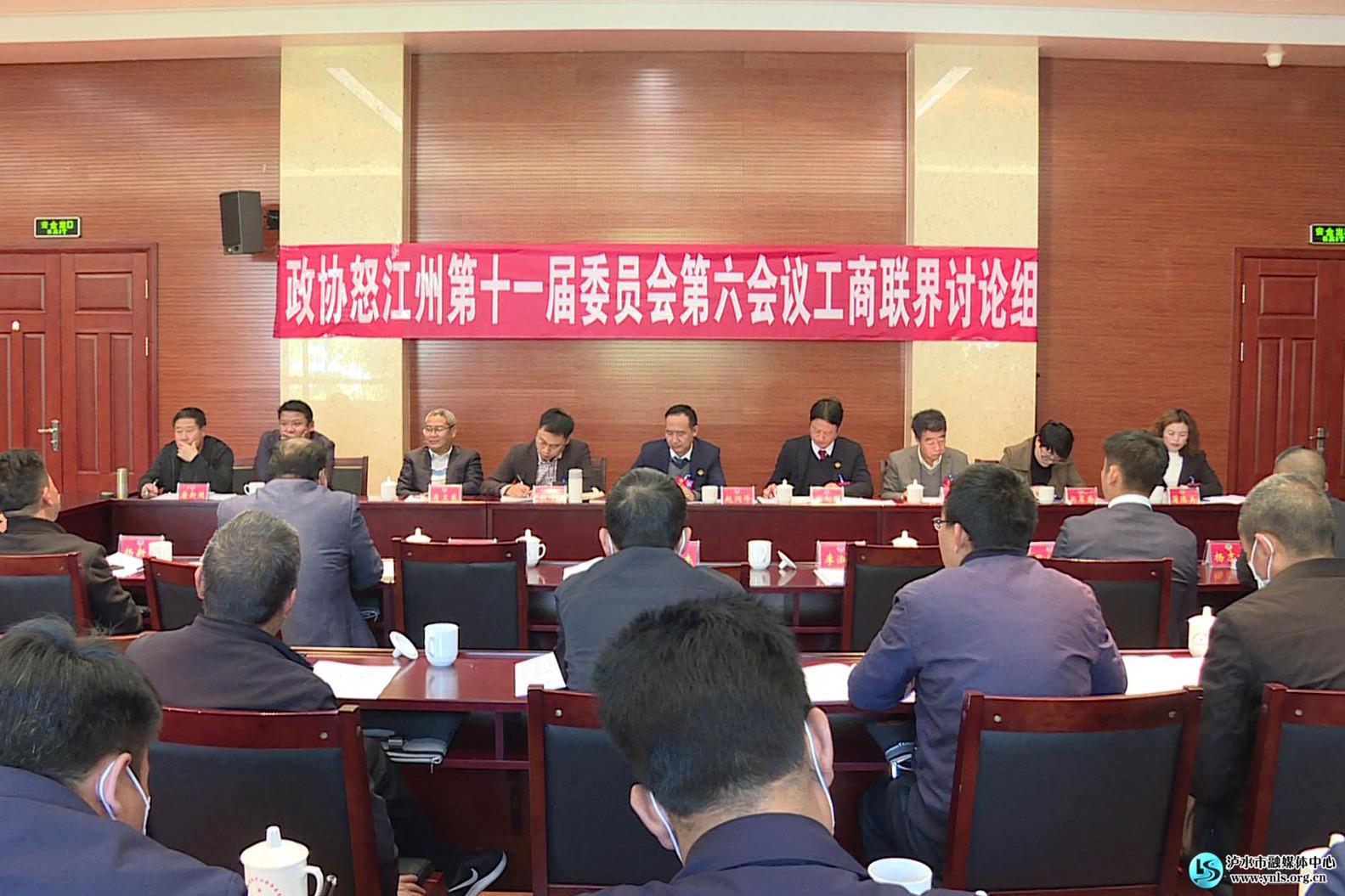 出席怒江州政协十一届六次会议的驻泸水州政协委员 认真讨论常委会和提案工作报告